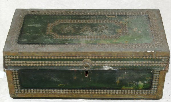 313: Antique Camphor Wood China Trade Trunk 1840s