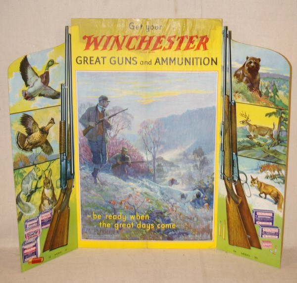 1002: 1932 Winchester Ammunition Countertop Advertising