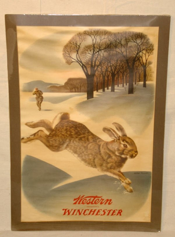 1007: Winchester Ammunition Advertising Poster Rabbit