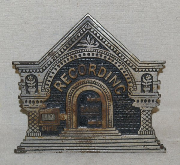 1017: Antique Cast Iron National Recording Bank 1891