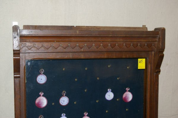 1065: Country Store Oak Pocket Watch Display Case - 2
