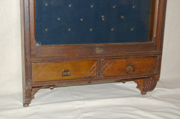 1065: Country Store Oak Pocket Watch Display Case - 4