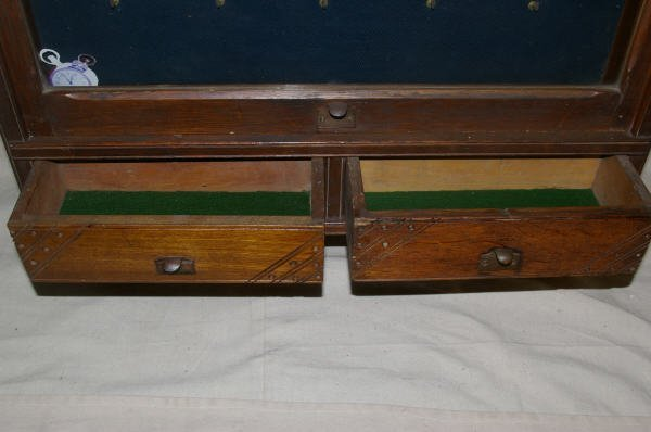 1065: Country Store Oak Pocket Watch Display Case - 5