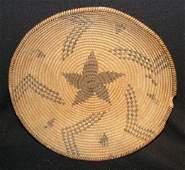 1202: Pima Indian Basket With Star Motif