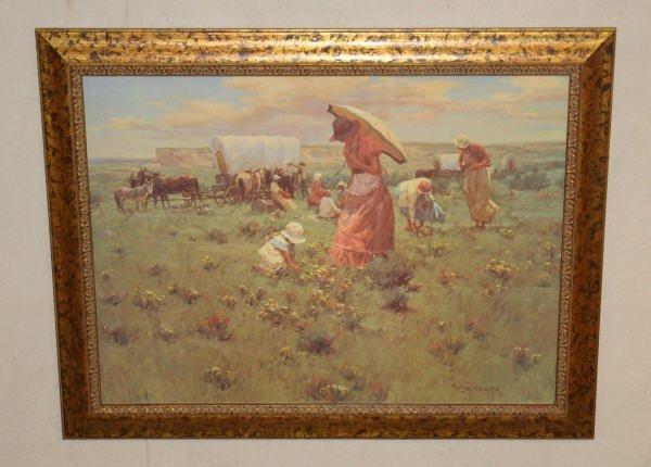 "1479: ""Sunday Flowers"" Print By Gary Niblett - 3"