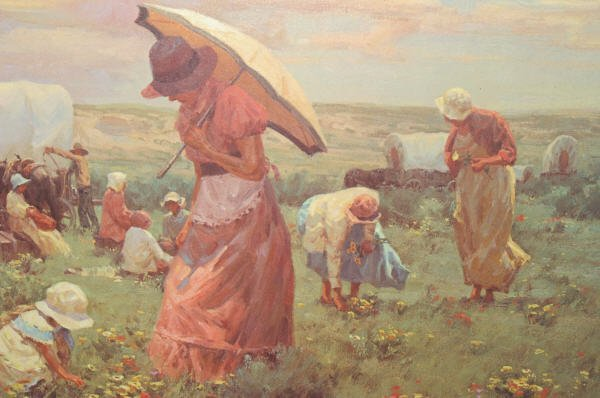 "1479: ""Sunday Flowers"" Print By Gary Niblett - 6"