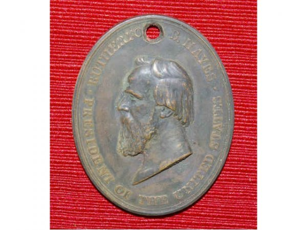 1032A: 1877 President Hayes Indian Peace Medal