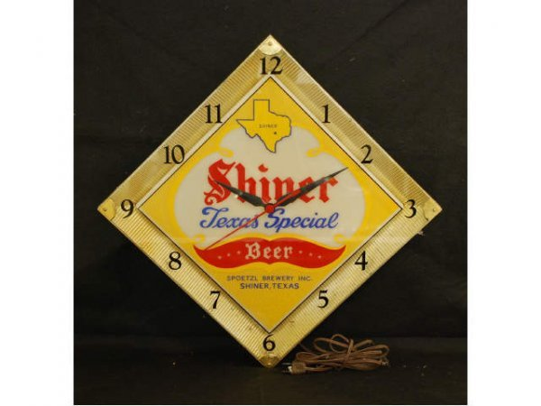 1: Shiner Beer Texas Special Lighted Clock