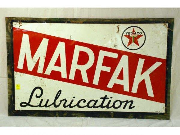 9: Texaco Marfak Tin Advertising Sign