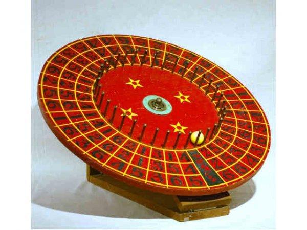 36: Vintage Gambling Wheel