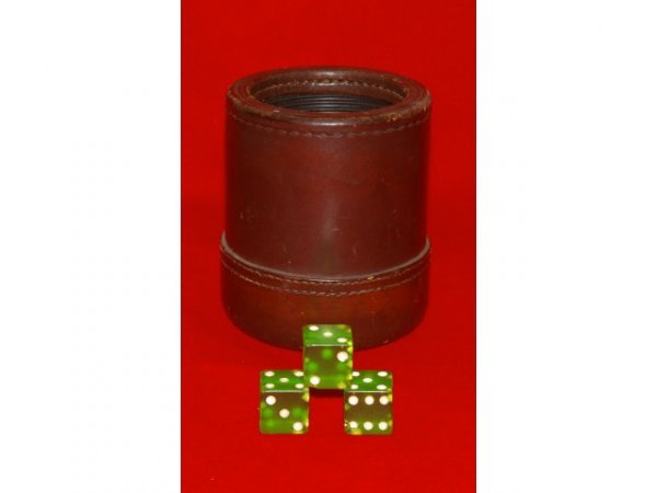 40: Cheaters Dice Cup & Dice Old Gambling
