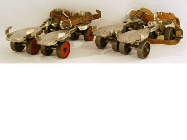 540: Lot Of 2 Pair Winchester Roller Skates With Key
