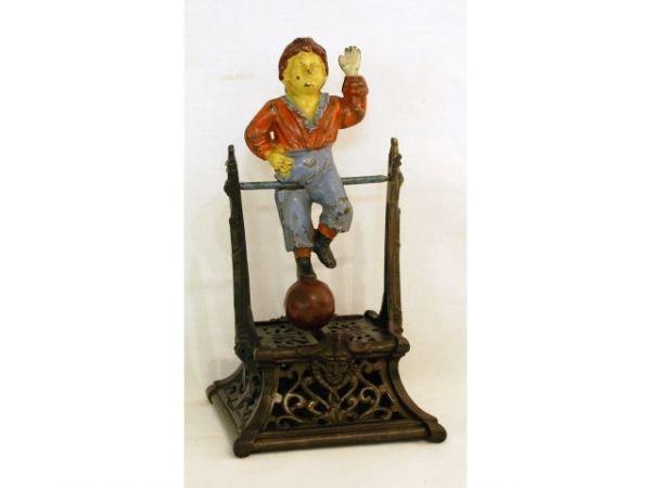 45B: J Barton Smith Boy On Trapeze Mechanical Bank
