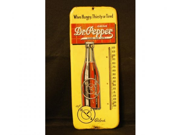 3: 1930s Dr Pepper Good For Life Thermometer