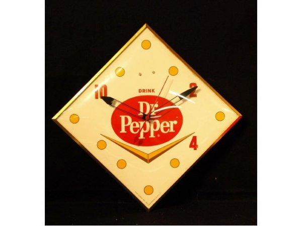 6: 1960s Dr Pepper Chevron Electric Clock
