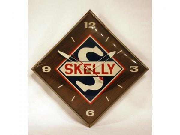 7: Vintage Skelly Gasoline Advertising Clock