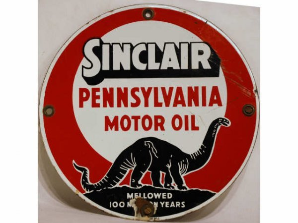 9: Vintage Sinclair Pennsylvania Motor Oil Sign