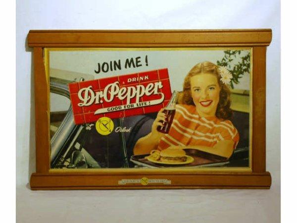15: Vintage Framed Dr Pepper Join Me Poster