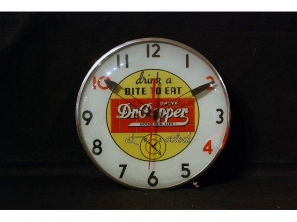 16: Vintage Dr Pepper Drink A Bite to Eat Clock