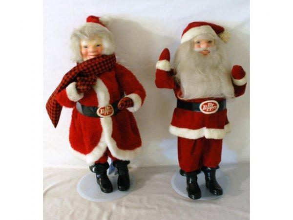 19: Dr Pepper Santa & Mrs. Claus Store Displays