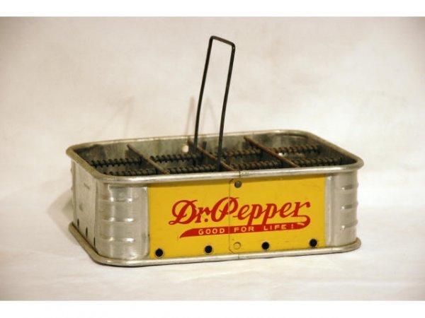 21: 1930s Dr Pepper Aluminum 12 Bottle Carrier