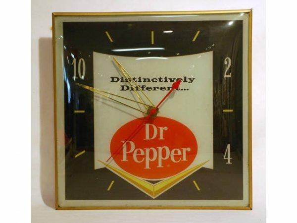 22: 1960s Dr Pepper Chevron Square Clock