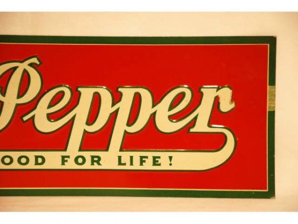 44: Vintage Dr Pepper Tin Advertising Sign 1930s - 2