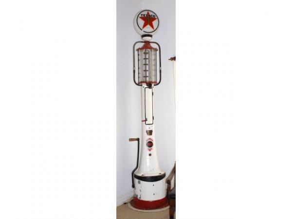 69: Texaco 5 Gallon Fry Mae West Visible Gas Pump
