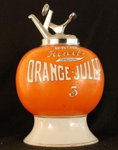 6: Howel's Orange Julep Soda Fountain Syrup Dispenser