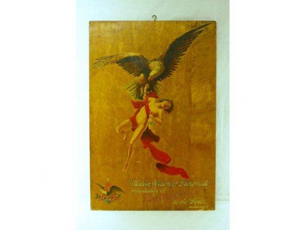 13: Anheuser-Busch Budweiser Ganymede Wooden Sign