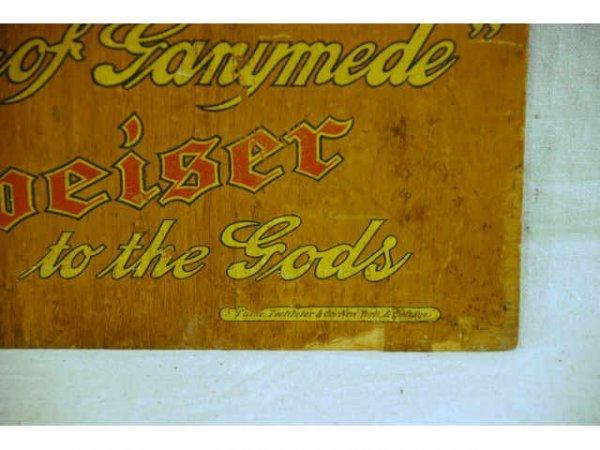 13: Anheuser-Busch Budweiser Ganymede Wooden Sign - 6