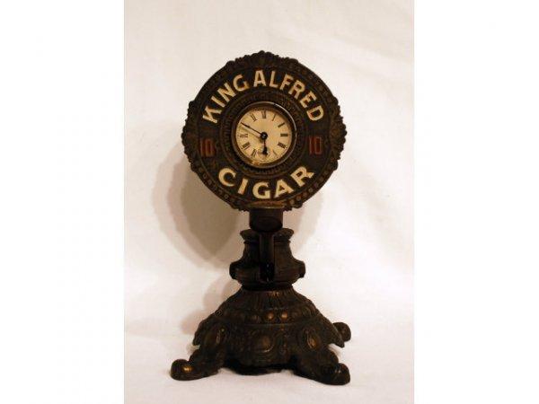 26: King Alfred Advertising Cigar Cutter & Clock