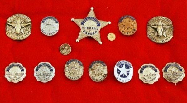 27: 12 Texas Cattlemans Assoc. Ranger Badges