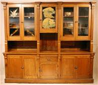 110: Large Oak Country Store Cigar Cabinet