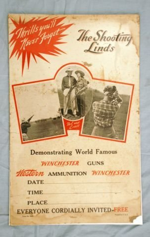 """2: Vintage Winchester """"The Shooting Linds"""" Poster"""