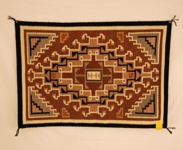 518: Two Gray Hills Navajo Rug By Helen Pearl Billie