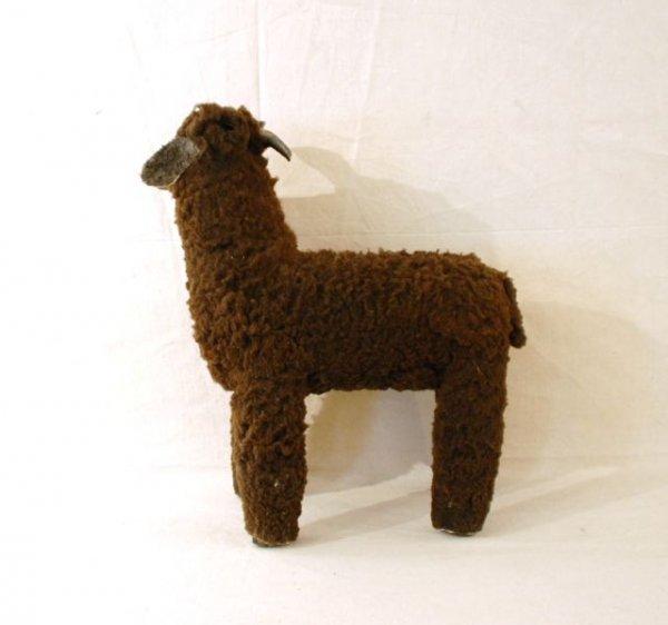527: Navajo Hand Carved Folk Art Brown Sheep