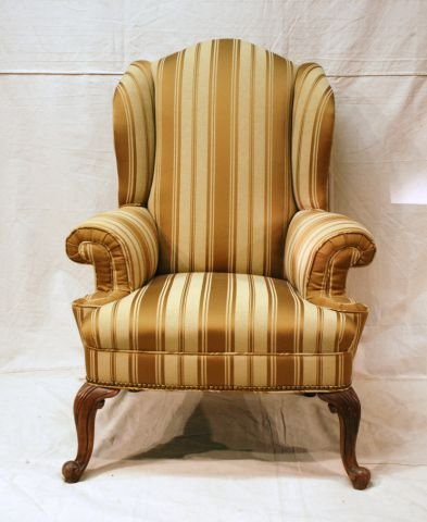 553A: Early Wing Back Chair Horse Hair Stuffed