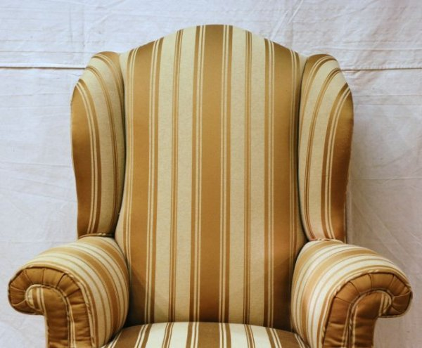 553A: Early Wing Back Chair Horse Hair Stuffed - 2