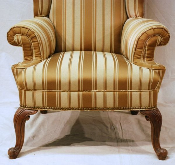 553A: Early Wing Back Chair Horse Hair Stuffed - 3