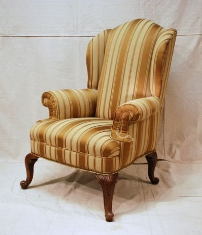 553A: Early Wing Back Chair Horse Hair Stuffed - 4