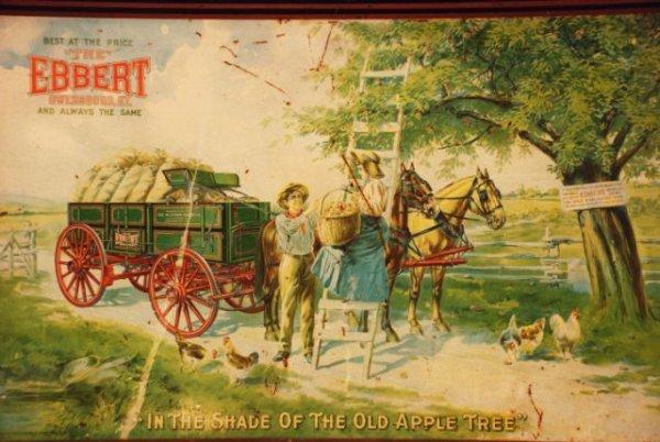 621: Hickman-Ebbert Wagon Co. Self Framed Tin Sign - 2
