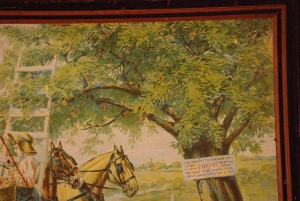 621: Hickman-Ebbert Wagon Co. Self Framed Tin Sign - 4
