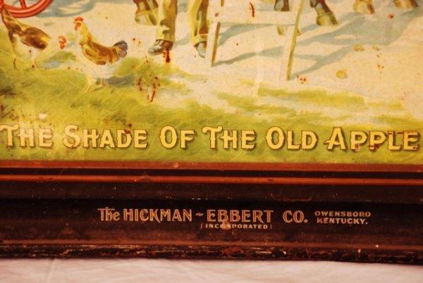 621: Hickman-Ebbert Wagon Co. Self Framed Tin Sign - 6