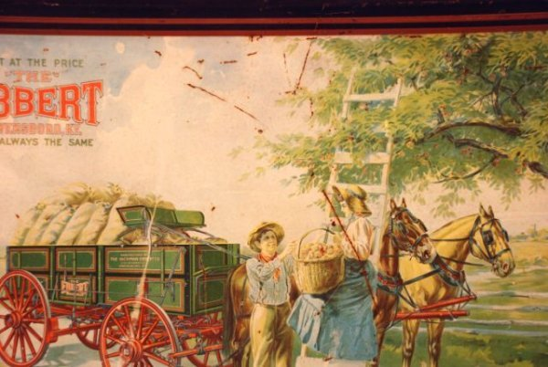 621: Hickman-Ebbert Wagon Co. Self Framed Tin Sign - 8