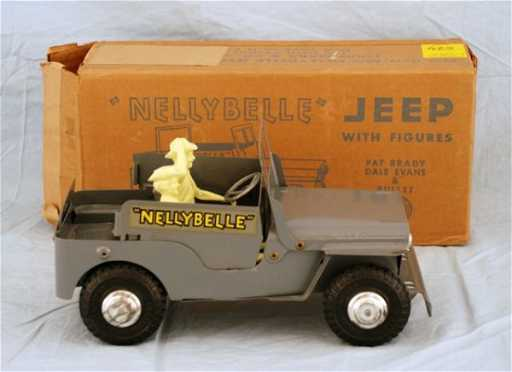 625 Roy Rogers Nelly Belle Toy Jeep Mint In Box Marx
