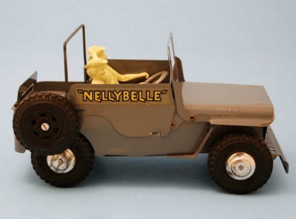 625: Roy Rogers Nelly Belle Toy Jeep Mint In Box Marx - 4