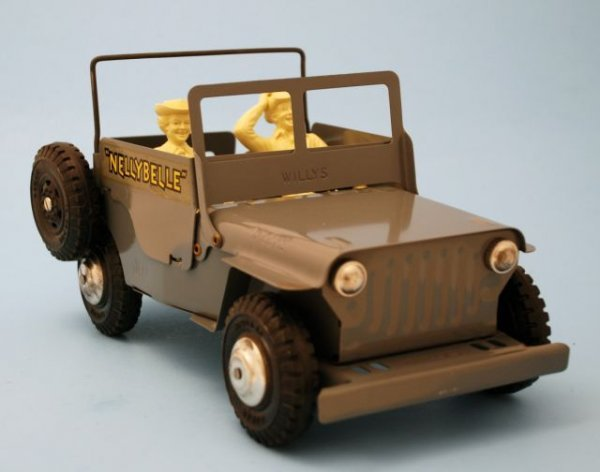 625: Roy Rogers Nelly Belle Toy Jeep Mint In Box Marx - 5