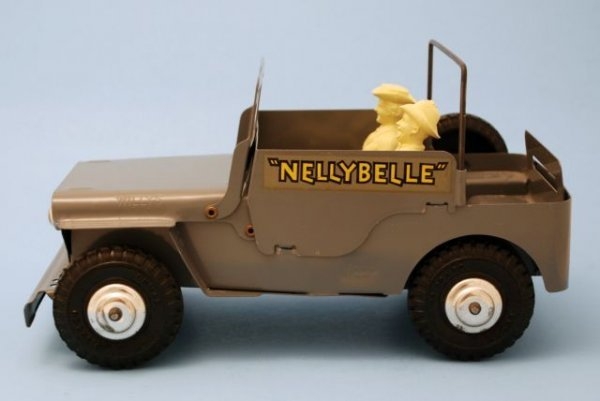 625: Roy Rogers Nelly Belle Toy Jeep Mint In Box Marx - 8