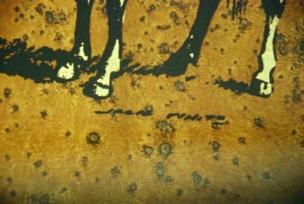643: Jack White Gold Leaf Cowboy Painting - 3